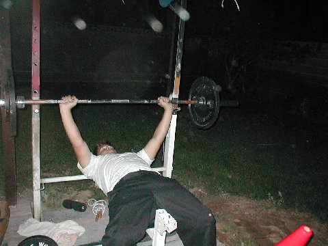 jared working out